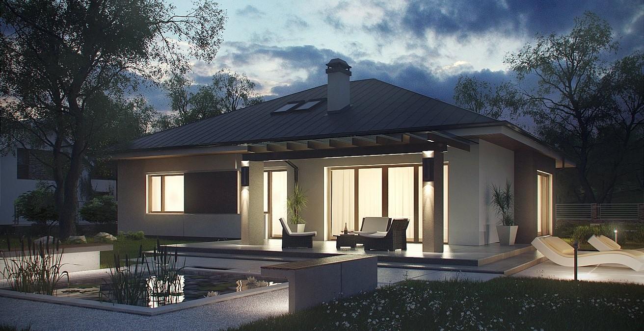 компактна сглобяема къща с метална конструкция