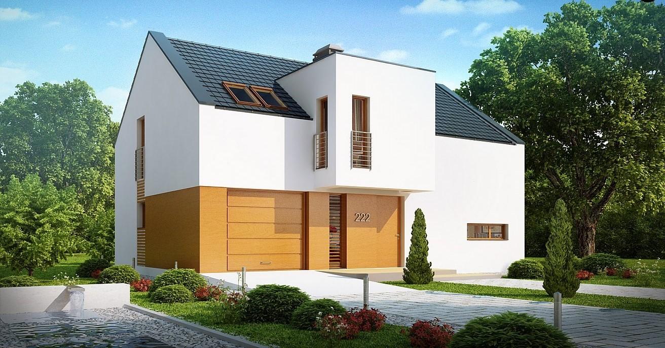 минималистична двуетажна сглобяема къща