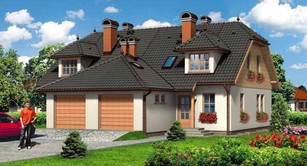 двуфамилна сглобяема къща