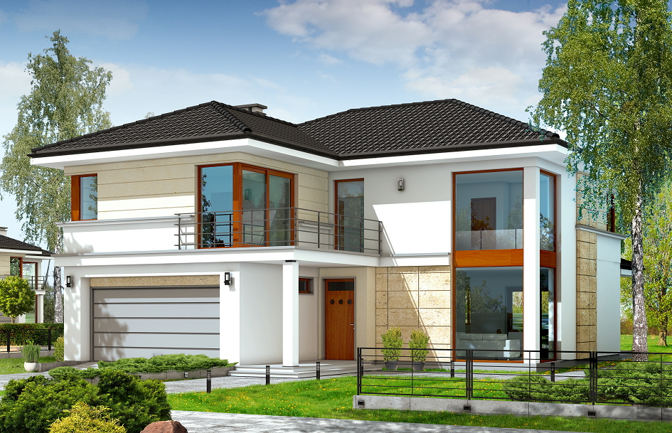 модерни двуетажни енергоспестяващи сглобяеми къщи