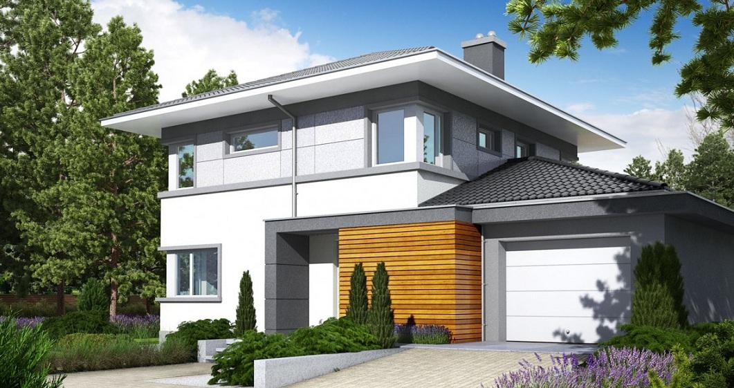 луксозна сглобяема къща от метална конструкция на два етажа