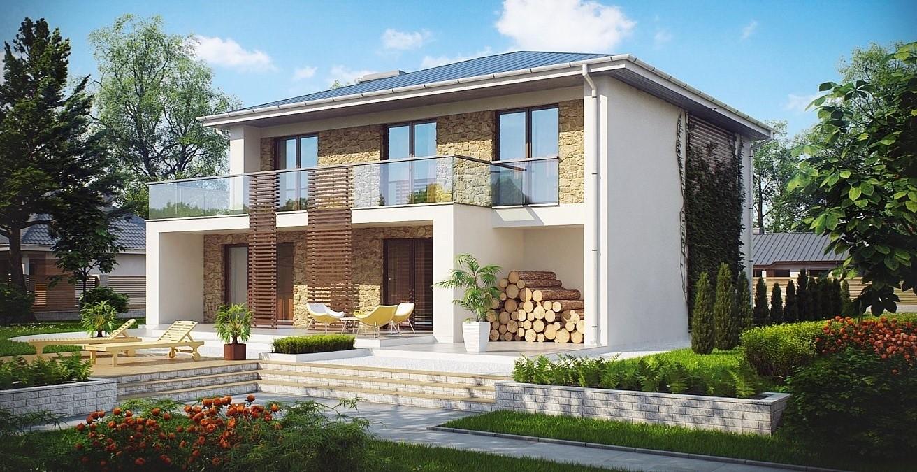 еднофамилна многостайна двуетажна къща с метална конструкция