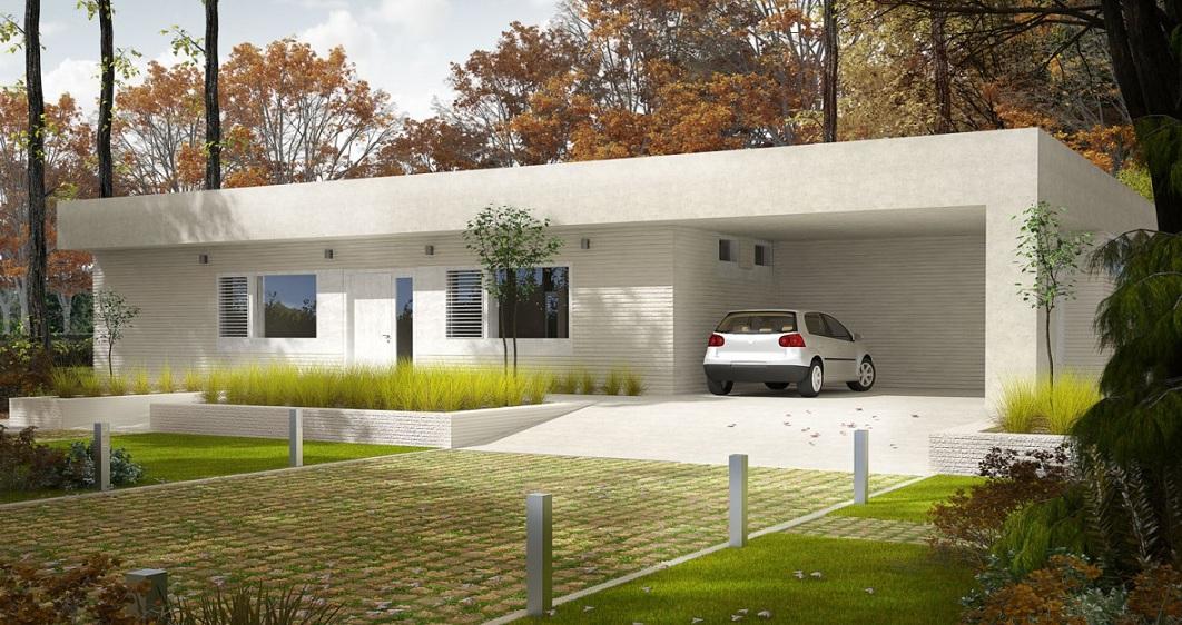 минималистична енергоспестяваща сглобяема къща