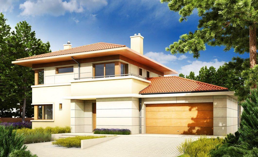 луксозна къща на два етажа от метална конструкция