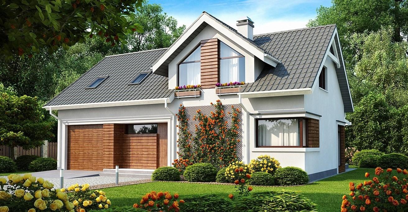 еднофамилна двуетажна къща от сглобяема конструкция