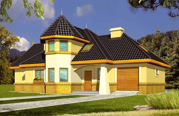 Модерна къща от метална конструкция