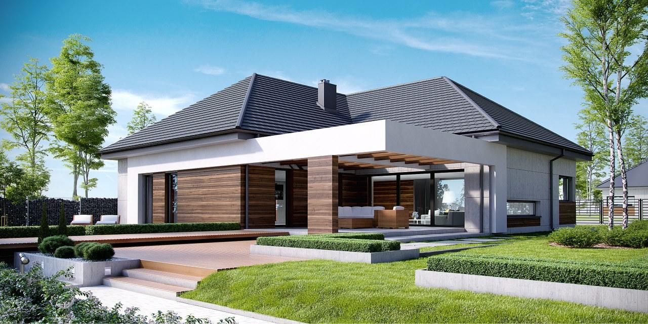 модерна сглобяема къща на два етажа